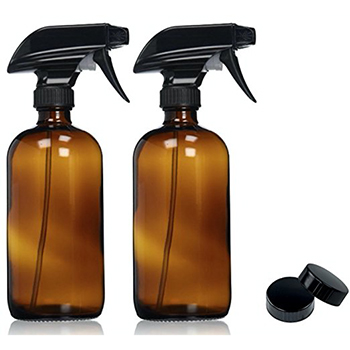 Large Amber Glass Spray Bottles