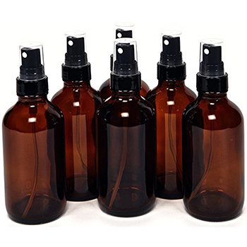 Small Amber Glass Spray Bottles